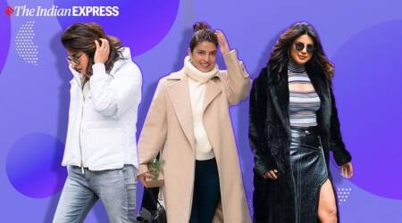 priyanka chopra, priyanka chopra photos, priyanka chopra winter fashion, indian express, indian express news