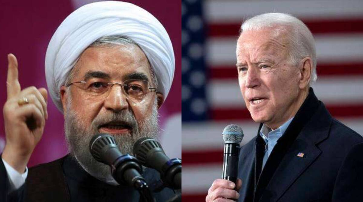 Us elections, Joe Biden, Iran nuclear deal, Iran us nuclear deal, Hassan Rouhani call on Joe Biden, Iran Hassan Rouhani nuclear deal, Iran us relations, indian express