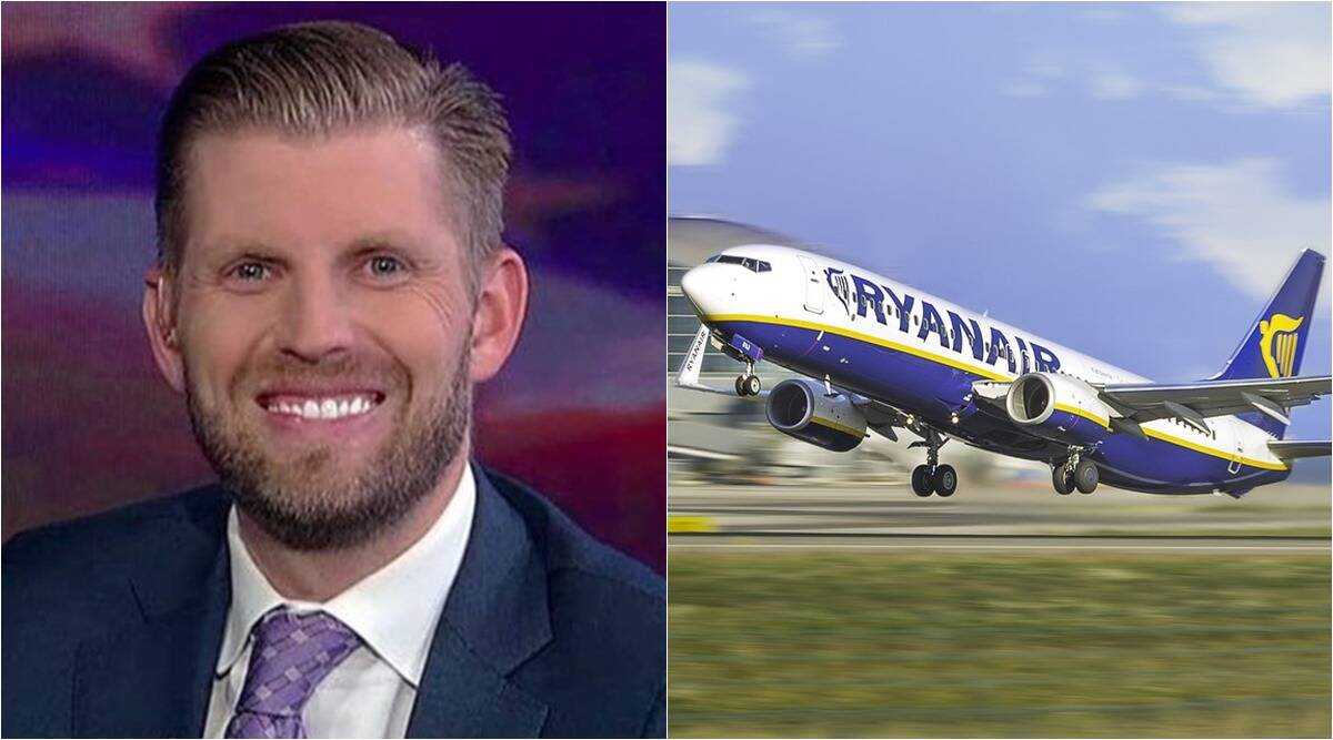 ryanair, us elections 2020, ryanair us election jibes, ryanair mocks eric trump, ryanair eric trump jibe, us election results, viral news, indian express