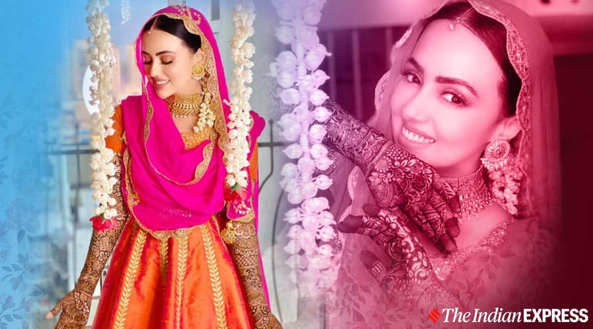 sana khan, sana khan mehendi, sana khan marriage, sana khan photos, indian express, indian express news