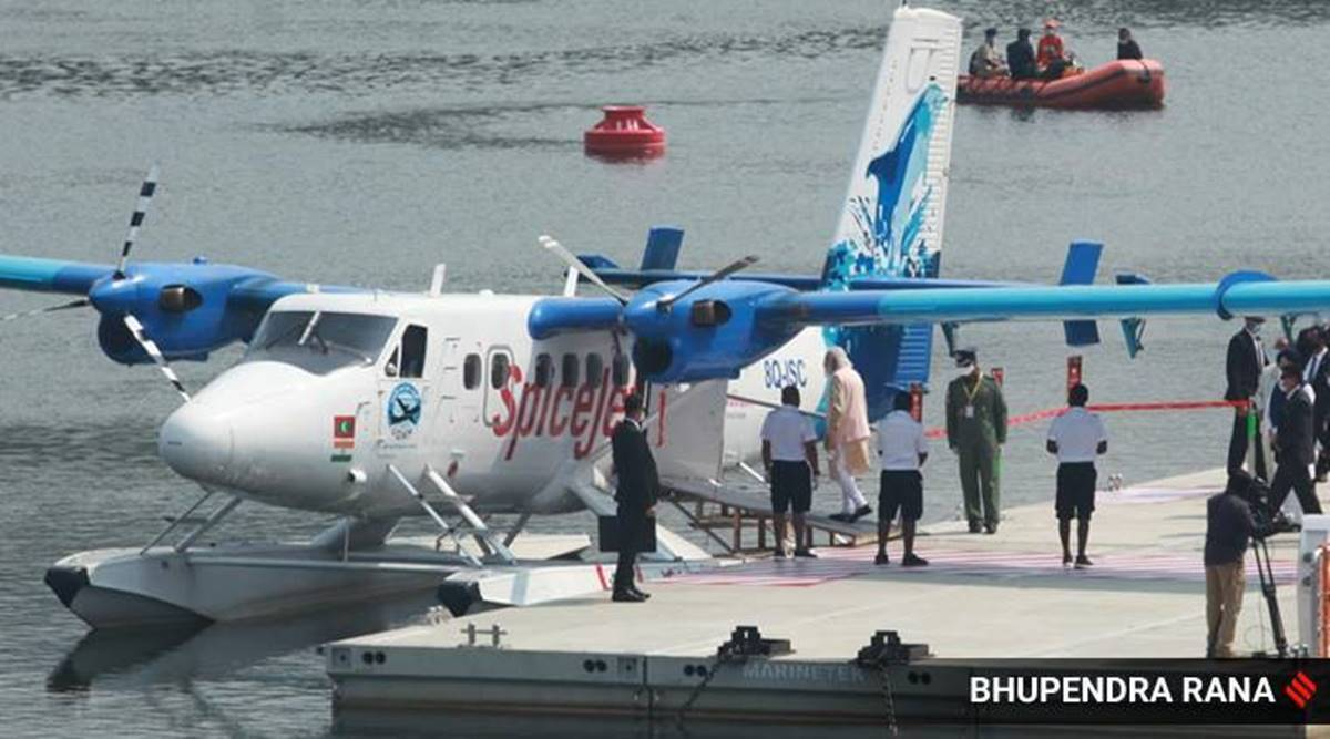 Gujarat Seaplane services, Seaplane services suspended for maintenance, Ahmedabad news, Gujarat news, Indian express news