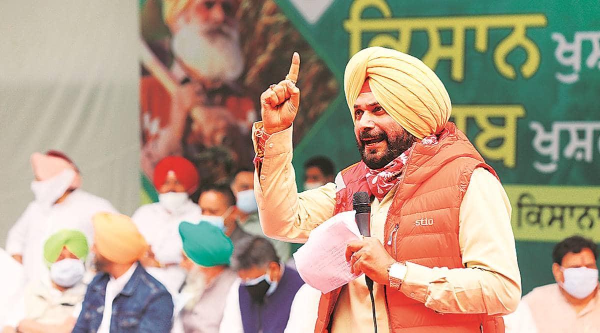 Navjot Singh Sidhu, Amarinder SIngh, Pratap SIngh Bajwa, Farm Bills 2020, Punjab news, Amarinder SIngh dharna, Indian express
