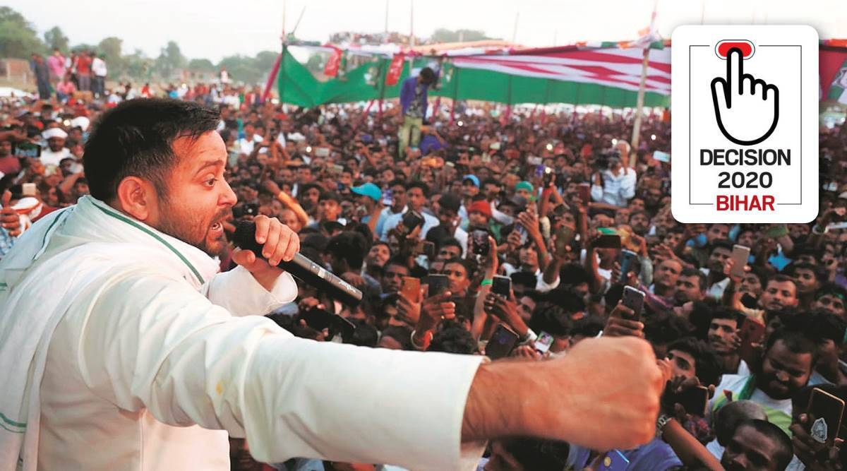 tejashwi yadav interview, tejashwi yadav, bihar elections 2020, bihar assembly elections, rjd cm candidate, tejashwi yadav on PM, tejashwi yadav on Nitish Kumar, rjd, jdu, bjp cm candidate, nitish kumar, narendra modi, indian express