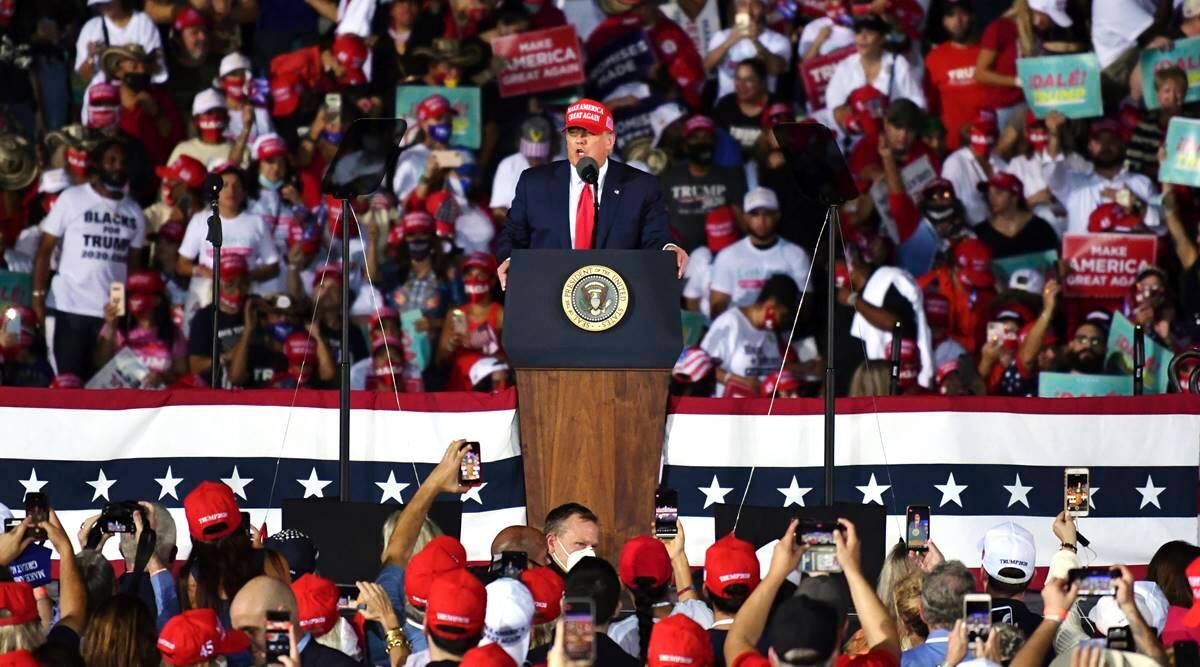Donald Trump, Trump on mail ballots, Trump on vote count, US elections 2020, US presidential elections 2020, World news, Indian Express