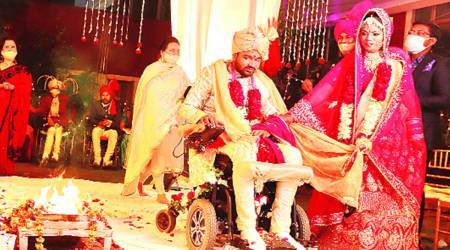 Specially-abled man takes vows at Chandigarh Spinal Rehab