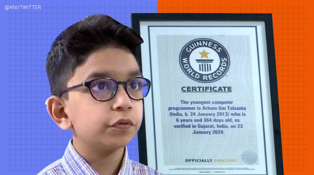 Guinness World Record, word's youngest computer programmer, youngest computer programmer record, Ahmedabad, Guinness Book of World Records, youngest computer programmer in the world, Book of records, India, Trending, Indian Express news.