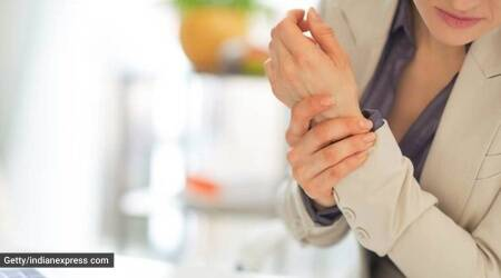 wrist pain, wrist pain stretches, how to stretch, wrist pain exercising, indianexpress.com, indianexpress, computer typing wrist pain, what to do for wrist pain,