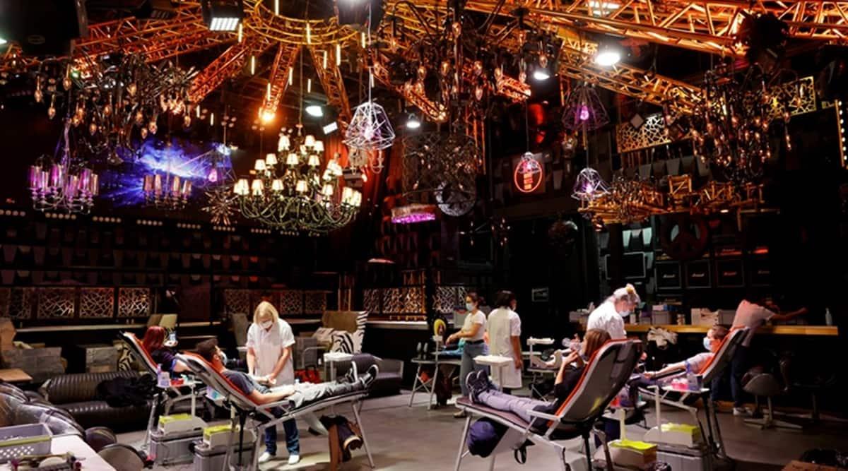Swiss night club, blood donation camp, Switzerland, Covid-19, Coronavirus updates, Switzerland coronavirus lockdown, Trending news, Indian Express news