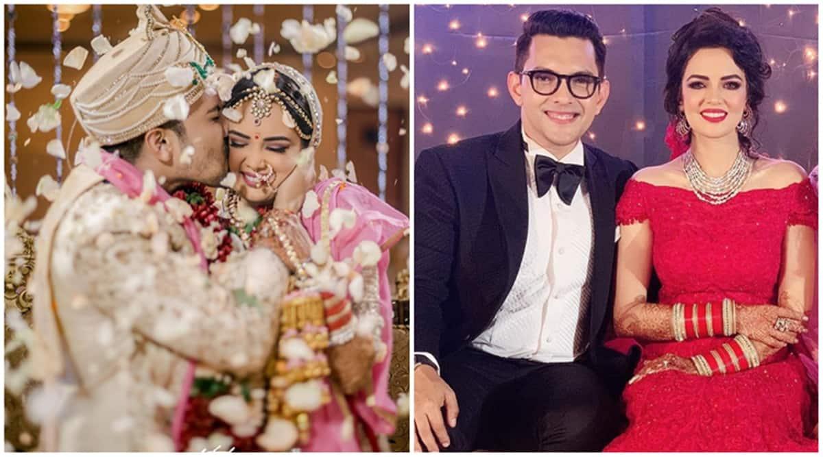 Image result for aditya narayan and shweta agarwal kiss day