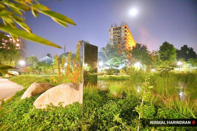 monolith, monolith ahmedabad, monolith in india, gujarat monolith, ahmedabad park monolith, viral news, trending news, gujarat news, indian express news