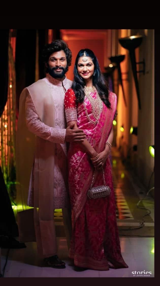Allu Arjun and wife Sneha Reddy