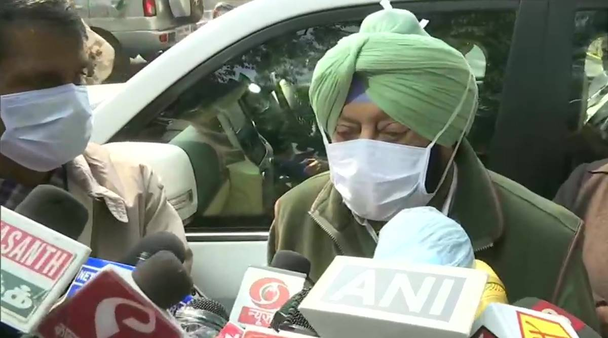 Amarinder singh, amarinder singh meets amit shah, arvind kejriwal, manohar lal khattar, farm bills, farm bill protests, indian express news