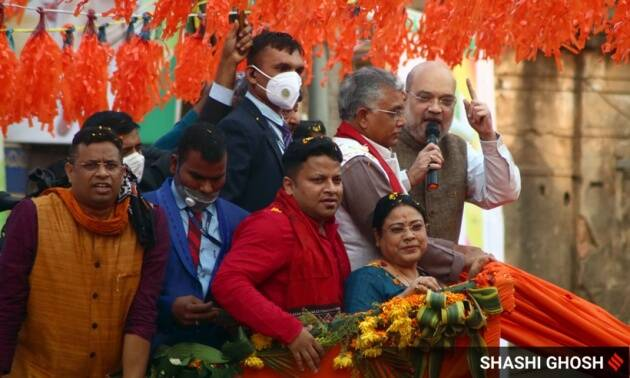 Amidst BJP-TMC war of words, Amit Shah launches road show in Bengal