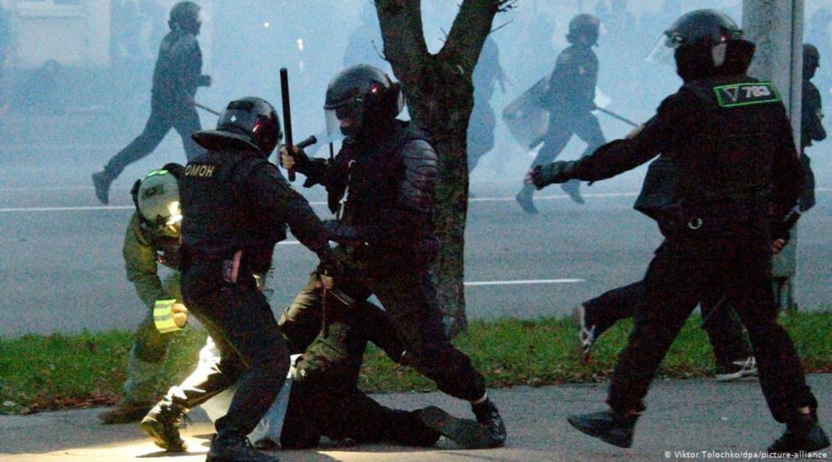 Belarus Police, Belarus protests