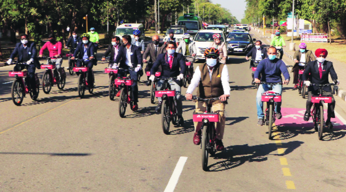 Bike sharing system in Chandigarh a success