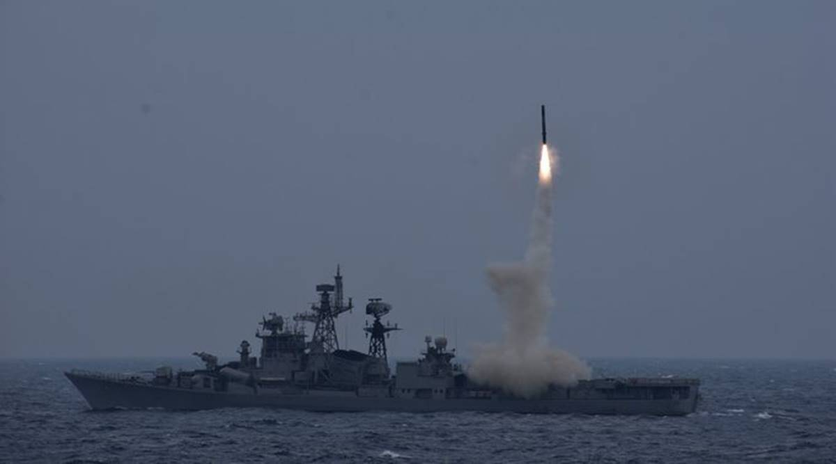 Naval version of Brahmos test fired from Navy's INS Ranvijay in Bay of Bengal