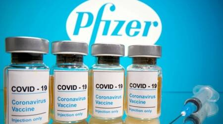 Pfizer, Covid vaccine, Pfizer shot, UK vaccine, Pfizer vaccine shot, world news, Indian express