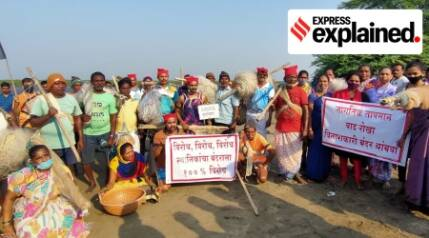 Why are villagers in Dahanu objecting to a port project?