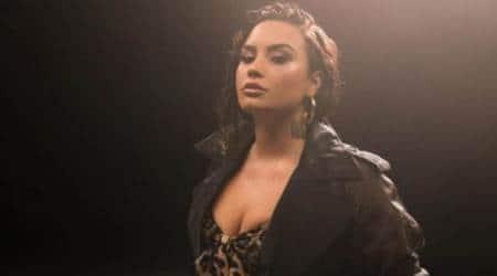 Demi Lovato, Demi Lovato eating disorder, Demi Lovato body positivity, Demi Lovato glitter photoshoot, indian express news