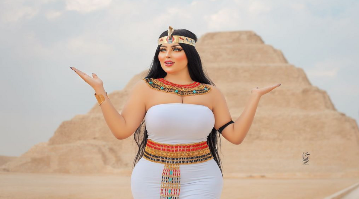 Egyptian model arrested for 'indecent' photoshoot in front of pyramid