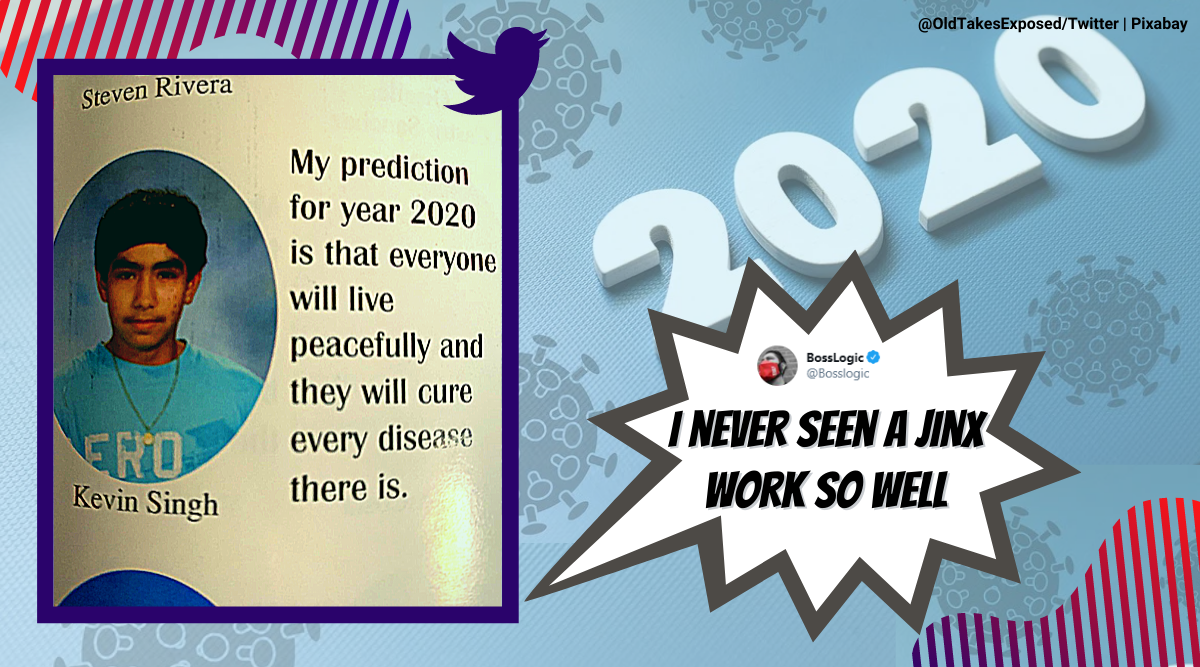 2020 prediction gone wrong, man high school year book prediction, funny yearbook quotes, viral news, funny news, indian express