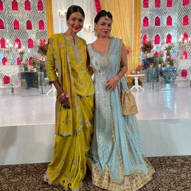 nigaar khan with preeti simoes