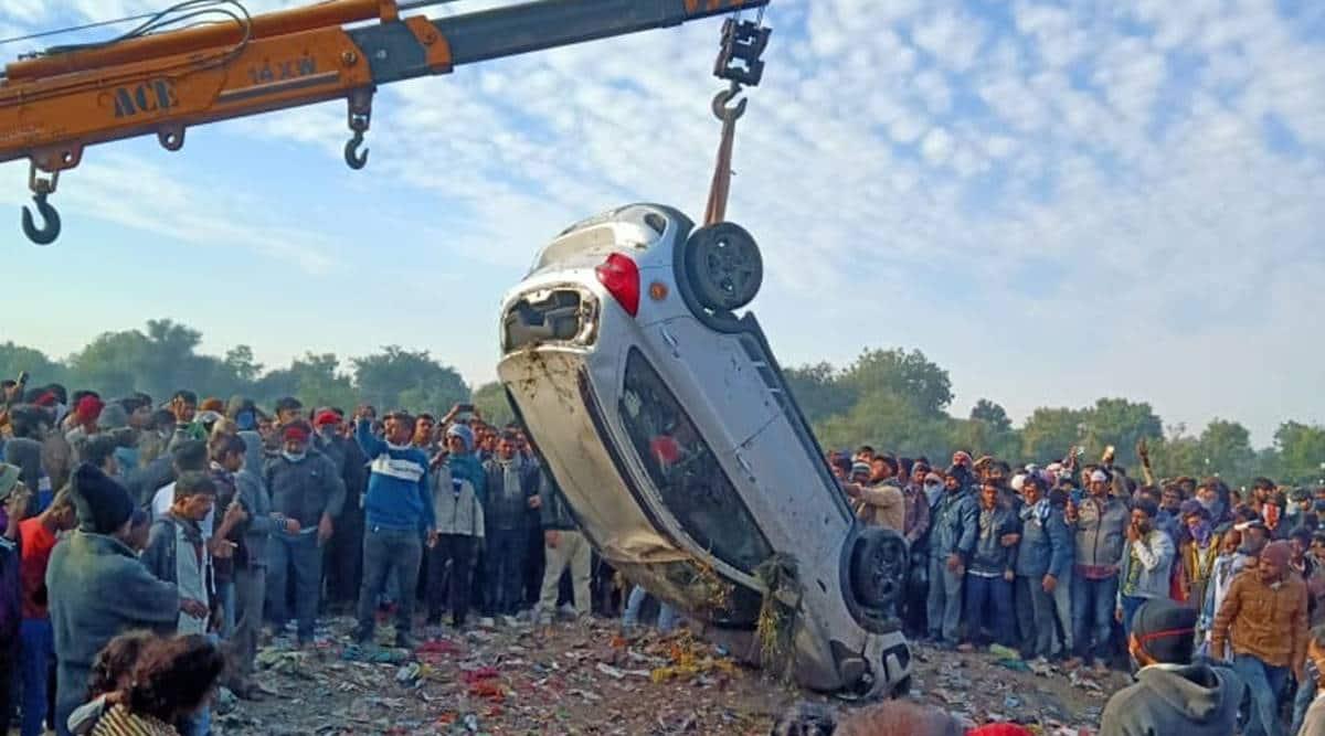 Gujarat road accident, Mehsana road accident, Three teachers die in mehsana, Gujarat news, Indian express
