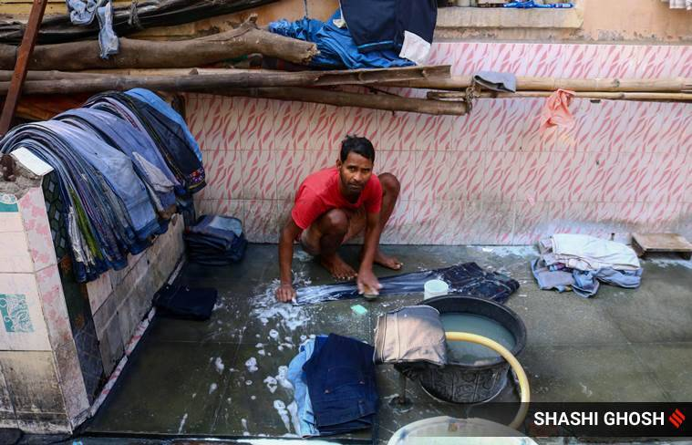 old jeans, second hand jeans, old jeans in Kolkata, laundry alley in Kolkata, the street in Kolkata where old jeans are made new, indian express news