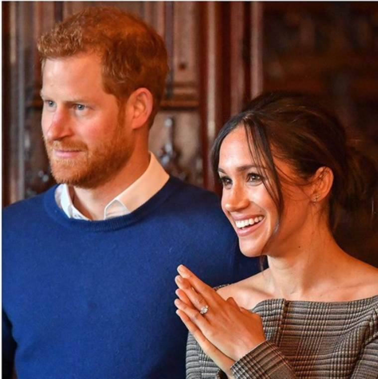 meghan markle engagement ring, indian express news