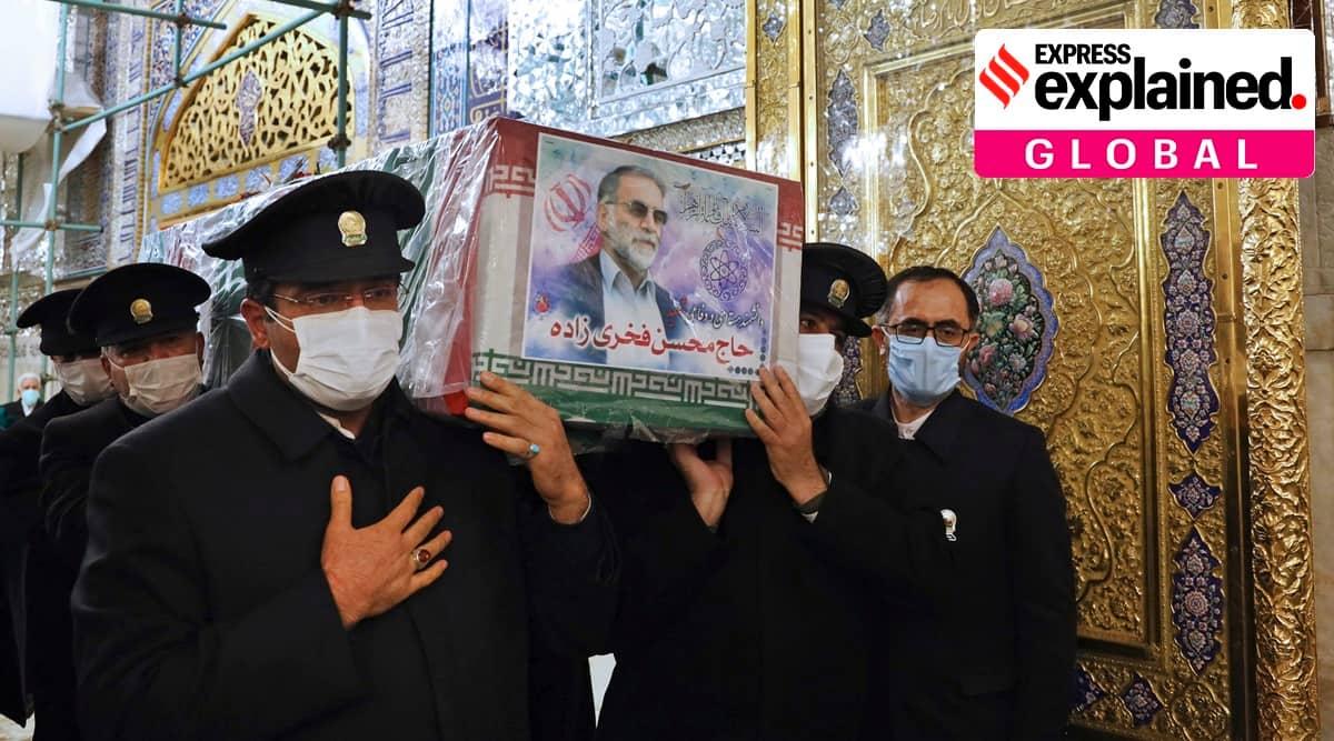 Mohsen Fakhrizadeh assassination, Mohsen Fakhrizadeh killing, who was Mohsen Fakhrizadeh, Mohsen Fakhrizadeh nuclear tech, indian express