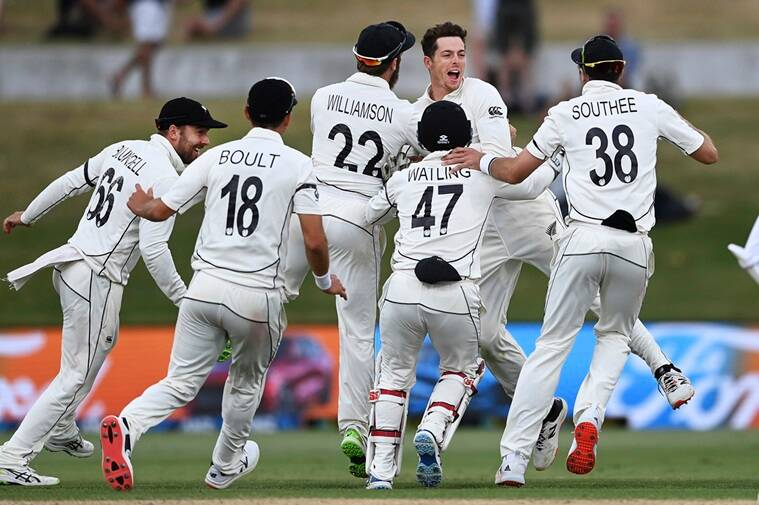 New Zealand vs Pakistan, NZ vs PAK, NZ PAK test match, NZ PAK test score, New Zealand Test win, Indian Express