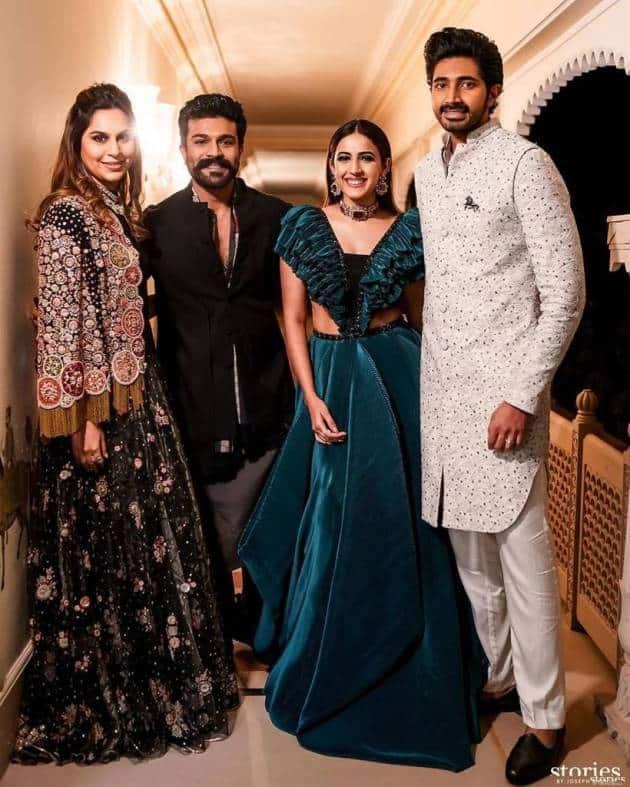 ram charan with niharika konidela and chaitanya JV