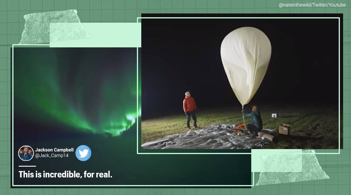 Northern lights, Northern lights from space, Aurora Borealis, Aurora Borealis from space, Aurora from space, Weather camera in space, Aurora, Alaska, Northern lights in Alaska, Trending news, Indian Express news,