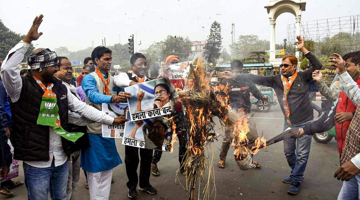 bjp trinamool congress clash in west bengal, bjp worker killed bengal, tmc bjp clash bengal, latest news, indian express