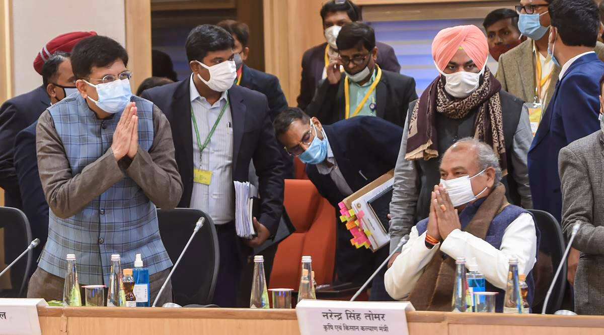 Govt, farmers reach some common ground, but talks remain deadlocked over MSP, repeal of laws - The Indian Express