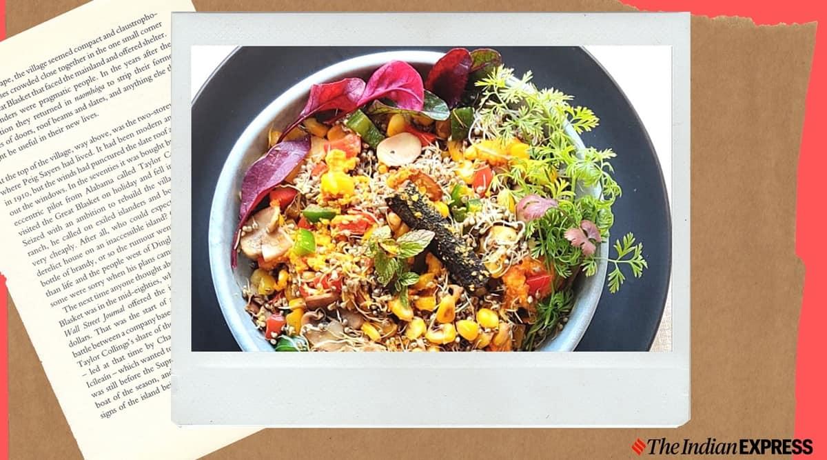 shalini rajani millets coach, bajra salad, sprout salad recipe, healthy easy snack recipe