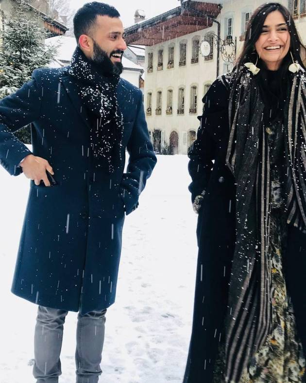 sonam kapoor with anand ahuja