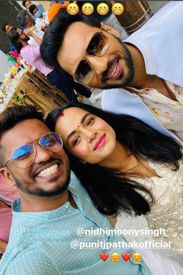 paul with punit pathak and nidhi moony singh