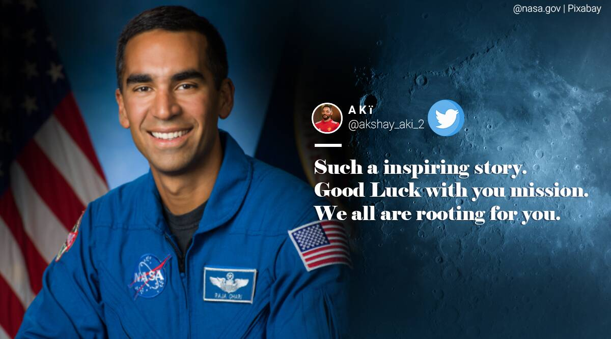 NASA, Raja Chari, Raja Chari on NASA Artemis Team, Indian-American Raja Chari, Raja Chari Artemis Team, Artemis Team, NASA moon mission, NASA lunar mission, Man on Moon, First woman on Moon, Twitter reaction, Trending news, Indian Express news.
