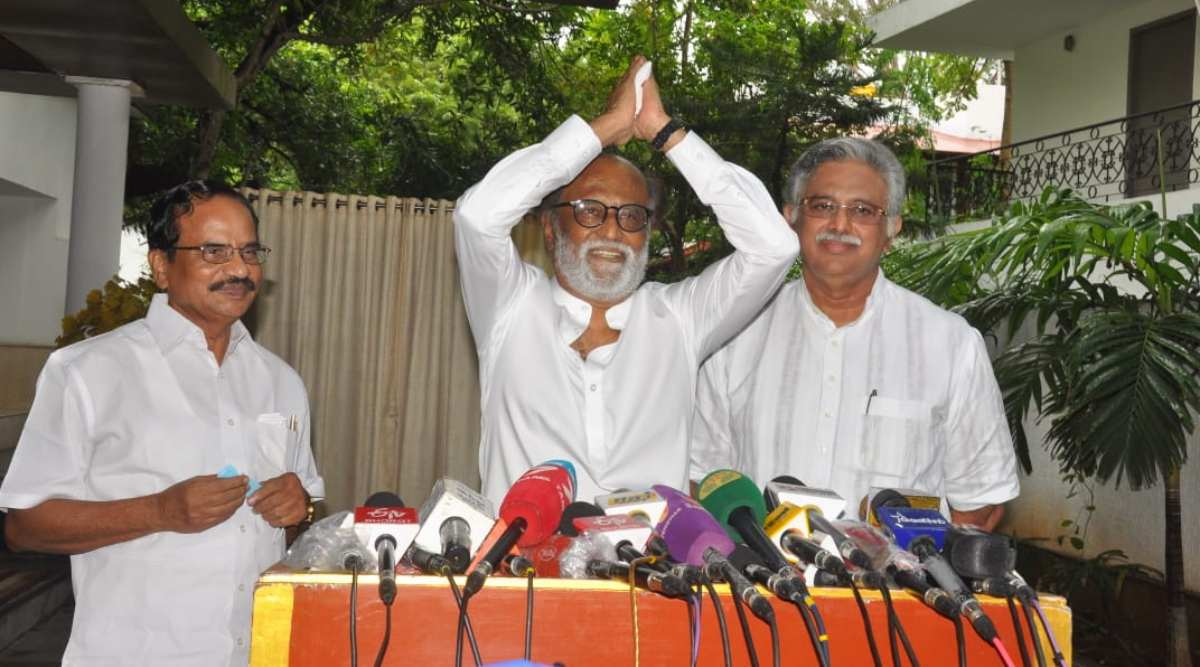 Rajinikanth, Paneerselvam, ops, AIADMK, DMK, Tamil Nadu, Rajinikanth party, indian express