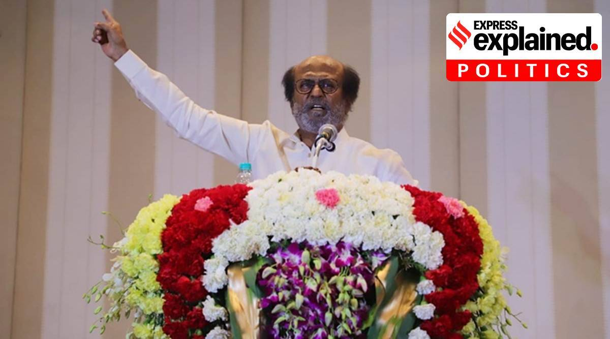 rajinikanth, rajinikanth news, rajinikanth latest news, rajinikanth tamil nadu politics, rajinikanth political party, rajinikanth political party news, tamil nadu elections, rajinikanth health condition, indian express explained