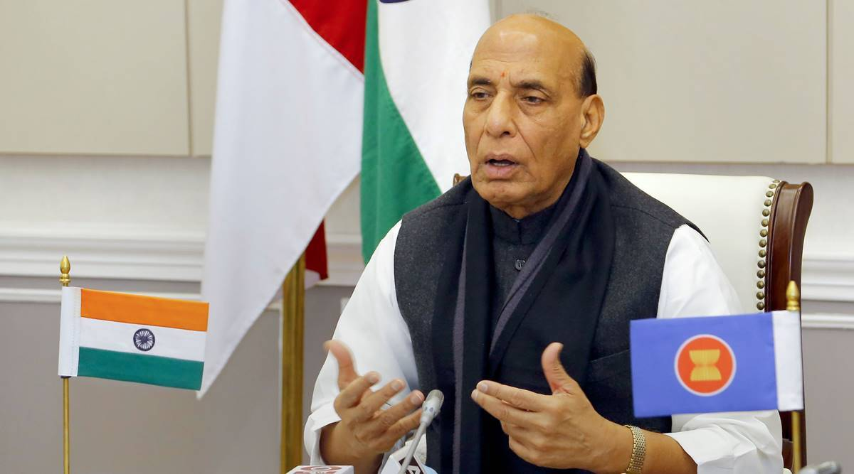 Rajnath Singh, Rajnath Singh at ASEAN, India china border dispute, Rajnath Singh on Covid-19, Chinese defence minister, terrorism, Maritime security, Rajnath on cyber security, India news, Indian express