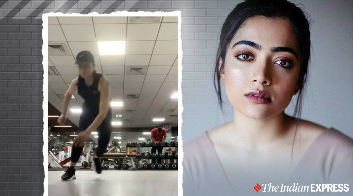 rashmika mandanna fitness, national crush of india 2020, national crush of india google, rashmika mandanna looks, fitness goals, celeb fitness, indianexpress.com, indianexpress, rashmika madanna fitness news, gym workouts,