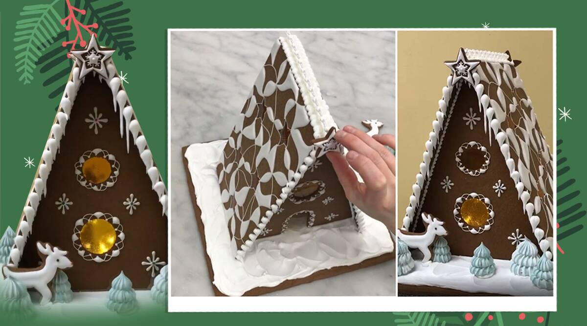 gingerbread house, christmas recipe, british royal gingerbread