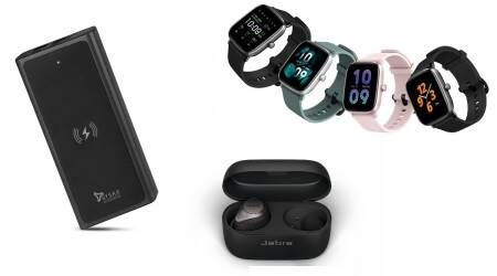 power bank, wireless charger, wireless earphones, true wireless earphones, jabra elite, syska, smartwatch