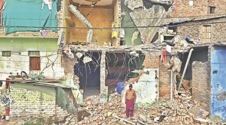 Ujjain clash, Ujjain stone pelting, Ujjain BJP, Ujjain stone pelting case, Ujjain Muslim locality, Ujjain news, Bharatiya Janata Yuva Morcha, India news, indian express news