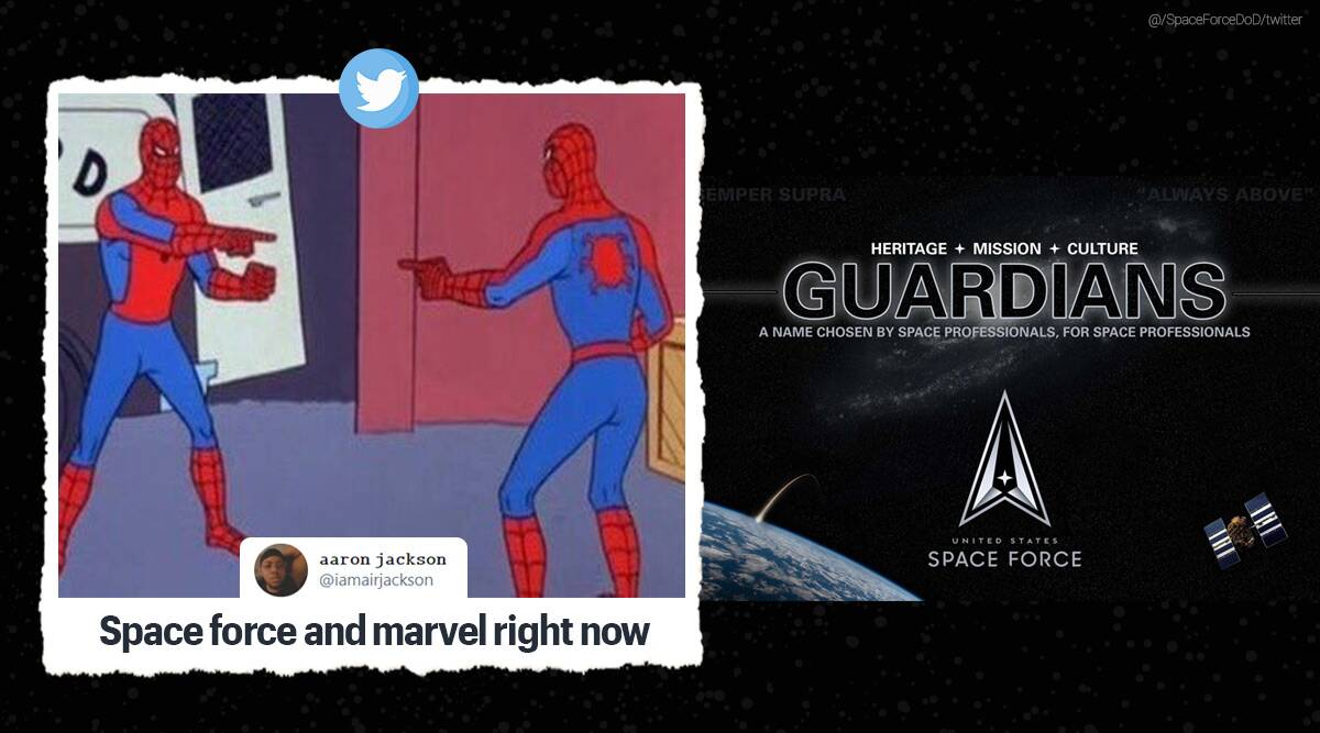 US space force, US space force renamed, Mike Pence renames US Space force, US air force, US space force new name memes, US space force as guardians, US space force guardian memes, US space force new name comparisons, Trending news, Indian Express news.