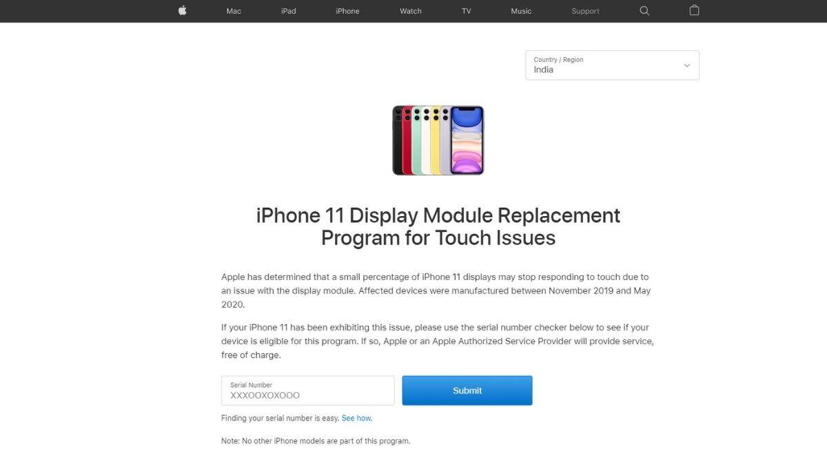 Apple, iPhone 11, iPhone 11 touchscreen issue, Apple iPhone 11, Apple iPhone 11 display replacement, Apple iPhone 11 touchscreen replacement, Apple iPhone 11 free replacement, Apple iPhone 11 touchscreen issue