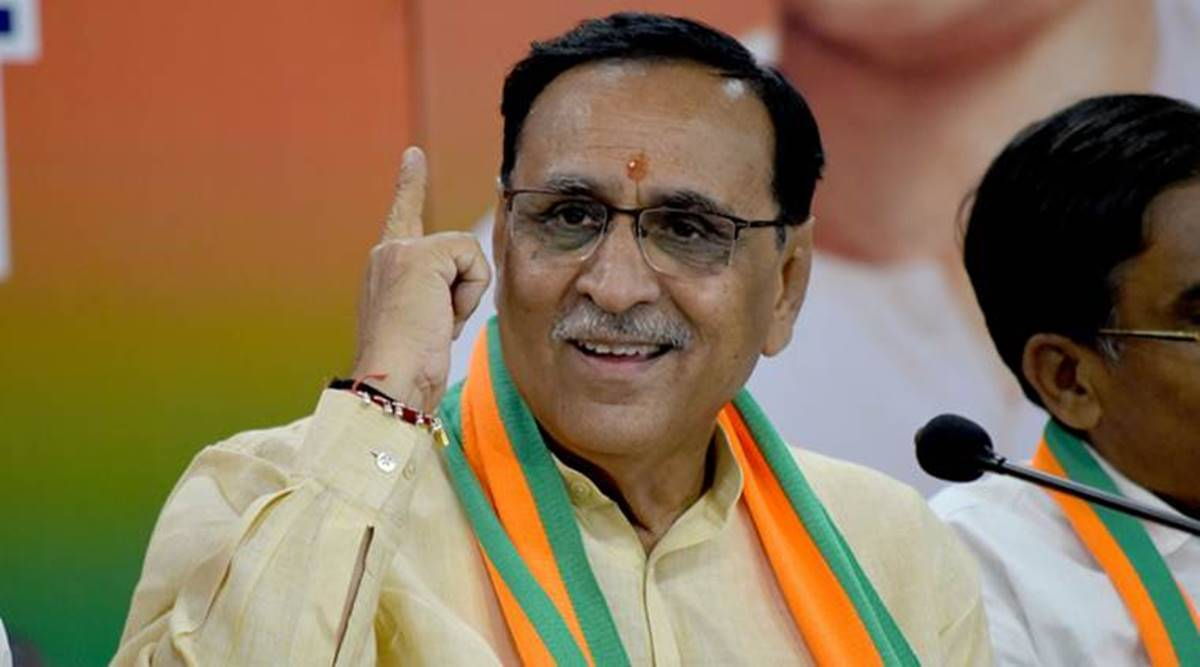 Vijay Rupani, Gujarat vaccination drive, Covid vaccine, Gujarat village sarpanches, Ahmedabad news, Gujarat news, Indian express news