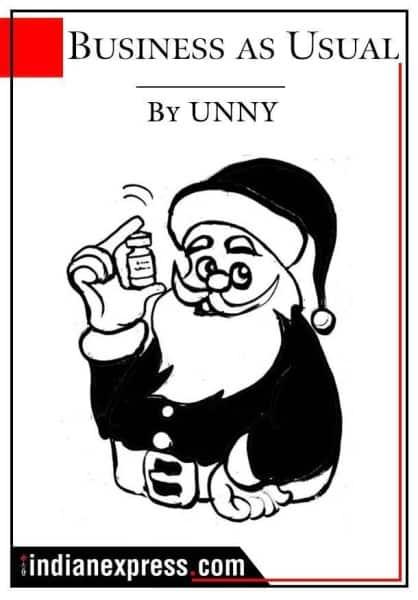 Express Cartoon, December 3